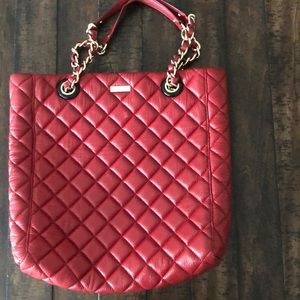 Kate Spade Quilted Tote Red  Surface Scratches